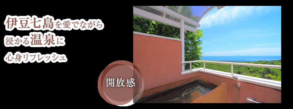 伊豆七島を愛でながら浸かる温泉に心身リフレッシュ