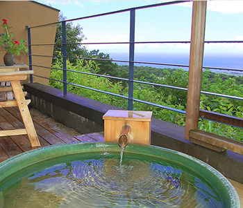 全室に絶景を見渡せる温泉露天風呂付き