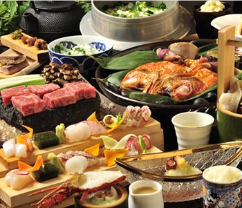 伊豆の三大味覚を堪能できるこだわりの創作料理